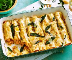 This chicken and pumpkin cannelloni pasta bake recipe is great served with a sage brown butter sauce for a quick yet impressive family dinner idea. Chicken Pumpkin, Roast Pumpkin, Chicken Squash, Chicken Pasta, Baked Pasta Recipes, Chicken Recipes, Cooking Recipes, Brown Butter Sauce, Sage Butter