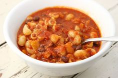 Spicy Vegetarian Chili --- Oh yummy.