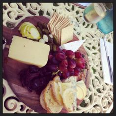 Cheese plate & Rolling Sparkling at Heritage House.