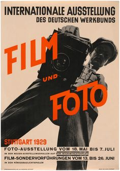 Poster for Film und Foto, 1929. Photo by Willi Ruge and graphic design by Jan Tschichold. Offset lithograph. The Museum of Modern Art, New York.
