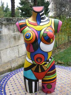 Mannequi'Niki Mannequin Torso, Mannequin Art, Pop Art, Art Cube, Body Cast, Human Art, Arte Pop, Bottle Painting, Creative Thinking