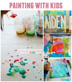 10 DIY Painting Activities for Kids - Lil Blue Boo