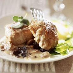 Paupiettes de veau au vin blanc et champignons 20 Min, Special Recipes, Fine Dining, Food Dishes, Camembert Cheese, Pork, Turkey, Meals, Chicken