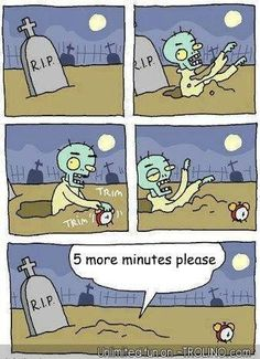 Now this is REALLY me during the zombie invasion! :)