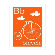 B is for Bicycle 8x10 inch print by FinnyAndZook on Etsy, $5.00