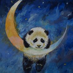 Panda Stars by Michael Creese Wall Canvas, Canvas Frame, Canvas Art Prints, Framed Prints, Canvas Size, Canvas Artwork, Painting Frames, Painting Prints, Paintings