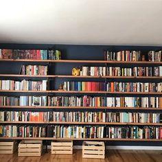 33 Mirror Decoration Ideas to Brighten Your Home - The Trending House Floor To Ceiling Bookshelves, Floating Bookshelves, Cool Bookshelves, Bookshelf Design, Homemade Bookshelves, Diy Bookshelf Wall, Custom Bookshelves, Design Desk, Bookcases
