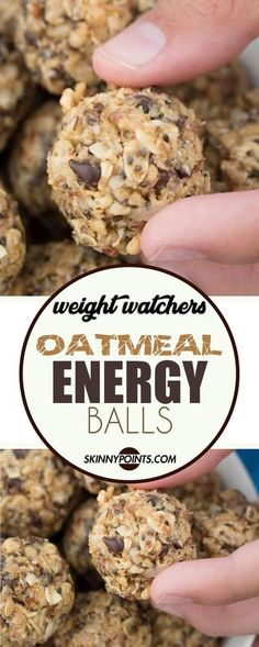 e factor Program Weight Loss - Oatmeal Energy Balls For starters, the E Factor Diet is an online weight-loss program. The ingredients include Simple Real Foods found at local grocery stores. Weight Watcher Desserts, Weight Watchers Snacks, Petit Déjeuner Weight Watcher, Plats Weight Watchers, Weight Watchers Breakfast, Weight Watcher Cookies, Weight Loss Snacks, Weight Watcher Granola Bar Recipe, Weight Watcher Overnight Oats