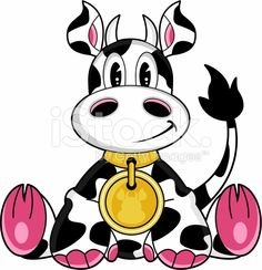 Cute Cow Character royalty-free stock vector art