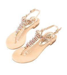 Grace giftGrace gift 官方購物網站 - 細緻感雙色拼接寶石涼鞋