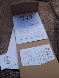 Modern Pocketfold - Wedding Invitations, rsvp card, envelopes and twine & tages. $5.00, via Etsy. Cry Like A Baby, 5x7 Envelopes, Twine, Rsvp, Wedding Stuff, Wedding Invitations, Cards Against Humanity, Personalized Items, Modern
