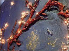 Tableaux lumineux - Bas-reliefs - INcrustations de points lumineux dans les murs et plafonds - Panneau DIPLINE - Paris Rouen