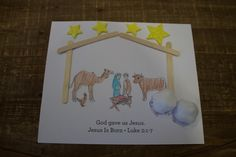 """Sample craft for 3-5s, Week 2, """"Manger Scene"""" Christmas Jesus, Christmas 2017, Water Kids, Bible Crafts, Special Delivery, Toddler Crafts, Sunday School, Curriculum, Toddlers"""