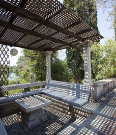 At Home in the World, 2012 by Kamilo Nollas, via Behance Patrick Leigh Fermor, Humble House, Benaki Museum, Peaceful Places, Athens, Greece, Restoration, Pergola, Outdoor Structures