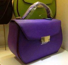Famous Lady Cowhide Leather Purple RL1366