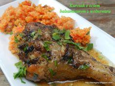 Stare Gary: Kurczak z octem balsamicznym z wolnowaru Crockpot, Steak, Pork, Chicken Kebab, Cooking Ideas, Kale Stir Fry, Slow Cooker, Steaks, Crock Pot