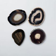 Agate Coasters in Black