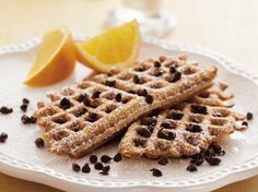 Waffle toast? Bread covered with a peanut butter batter is baked in a waffle iron, creating a cross between French toast and waffles.