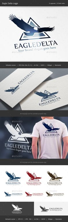 Eagle Delta Logo — Vector EPS #company #product • Available here → https://graphicriver.net/item/eagle-delta-logo/13947859?ref=pxcr