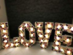 #love #loveletters #led #lightup #bright #lights #wedding #backdrop #props #event #party #loveflowers #floral #floralloveletters