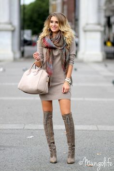 Great boots... Givenchy bag