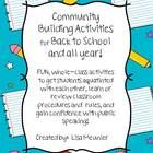 FUN Whole class activities to get students acquainted!  Only $4.00! Check it out at my TpT store!