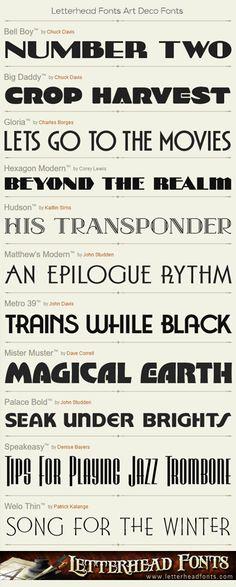 Letterhead Fonts / Art Deco Fonts