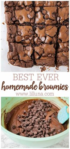 These ooey gooey fudgy classic homemade brownies are so simple to make and worth every single calorie! These ooey gooey fudgy classic homemade brownies are so simple to make and worth every single calorie! Best Brownies, Chocolate Brownies, Vanilla Brownies, Marshmallow Brownies, Baking Brownies, Chocolate Treats, Chocolate Cheesecake, Chocolate Chips, Food Cakes