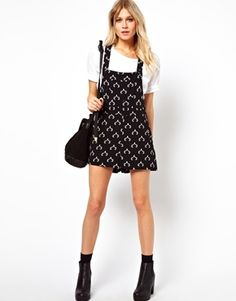 ASOS Dungaree in Stag Print
