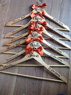 Personalised Complete Wedding Coathangers