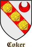 Shield of the Cokers, an ancient Devonshire family who came over with The Conqueror.