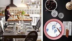Keittiösaareke, STORNÄS-ruokapöytä ja ÄLMSTA-tuolit