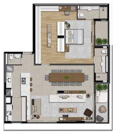 Sims House Plans, House Layout Plans, House Layouts, House Floor Plans, Modern Bungalow House, Modern House Plans, Small House Plans, Apartment Plants, Apartment Layout