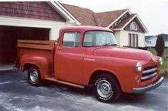 1955 Dodge Pickup in red