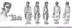 Un mio personaggio, creato anni fa. Provo a disegnarne lo sviluppo tridimensionale.