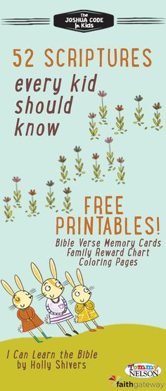 Help your children hide God's Word in their hearts!   We're so excited to be able to give you these ‪#‎FREE‬ downloads, printable memory cards, coloring pages, and a Bible verse memorization chart from ‪#‎ICanLearnTheBible‬ and ‪#‎TheJoshuaCode‬ to get you started!