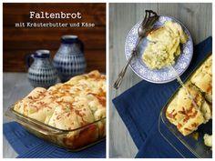 Brot, Faltenbrot, Kräuterbutter, Käse,