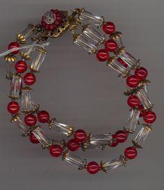Miriam Haskell Glass Bracelet