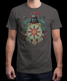 """""""Praise the Sun"""" is today's £8/€10/$12 tee for 24 hours only on www.Qwertee.com Pin this for a chance to win a FREE TEE this weekend. Follow us on pinterest.com/qwertee for a second! Thanks:)"""