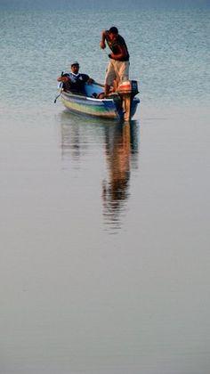 Fishermen at Corozal, Belize.