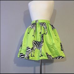 Skirt Green zebra Skirts Midi