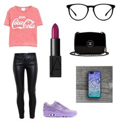"""""""Coca's look"""" by coca91 ❤ liked on Polyvore featuring MANGO, Balenciaga, NIKE, NARS Cosmetics and Chanel"""