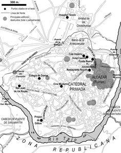 Cartografía. Toledo en 1937.