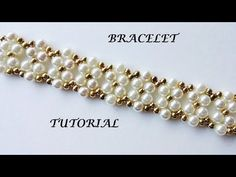 (34) How to diy elegant bracelet with pearls - YouTube