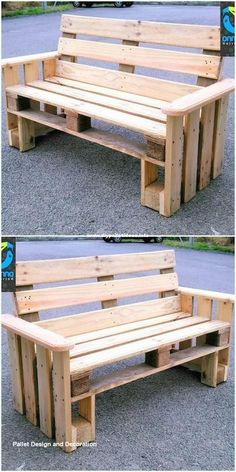 Incredible DIY Ideas With Pallets Wood Reusing Beautiful wooden pallets bench The post Incredible DIY Ideas With Pallets Wood Reusing appeared first on Pallet Ideas. Pallet Furniture Designs, Pallet Garden Furniture, Wooden Pallet Projects, Diy Outdoor Furniture, Pallet Crafts, Wooden Pallets, Pallet Ideas, Pallet Benches, 1001 Pallets