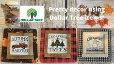 Dollar Tree Farmhouse Calendar decor, painted leaves & cute coffee cup! - YouTube