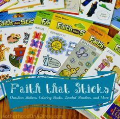 Faith that Sticks: Christian Stickers, Coloring Books, and Beginning Readers: GIVEAWAY on Motherhood on a dime. Ends tonight!!