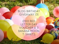 Futures.: Blog Birthday Giveaway | 3 | £100 Red Letter Day Voucher & Banana Moon T-Shirts