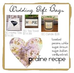"""wedding gift bags for SC weddings"" by explorer-14580620684 on Polyvore featuring beauty"