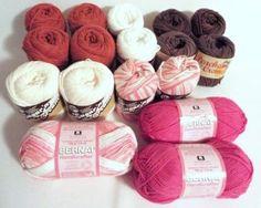 Mixed LOT 17 Cotton Yarn Sugar Cream Bernat Earth Bright Colors Full Skeins NEW #crochet #knitting #crafts http://moomettescrochet.ecrater.com/p/19423790/mixed-lot-17-cotton-yarn-sugar